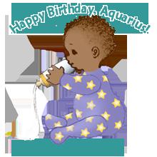 Happy Birthday, Aquarius! copyright Marian Buchanan, AstrologyBabies.com